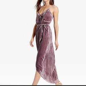 GORGEOUS Lucky Brand velvet wrap dress